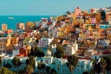 colored houses las palmas view